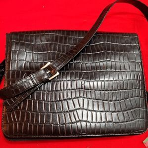 Wilson Leather crocodile laptop case/briefcase cas
